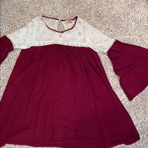 Loose shift dress